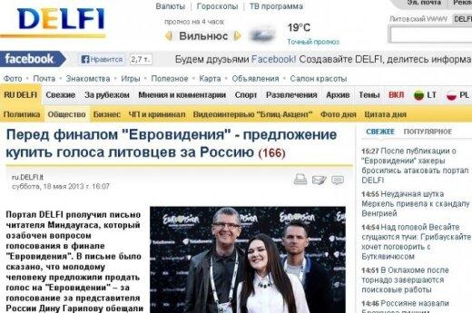 DELFI straipsnis apie balsų pirkimą Eurovizijoje