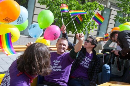 Homoseksualiści przeszli się ulicami Wilna