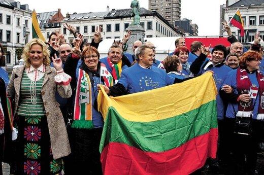 Lietuvos žemdirbiai trečią kartą organizuoja akciją Briuselyje