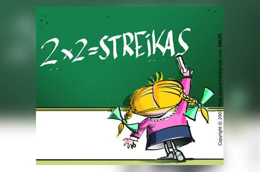 Mokytojų streikas - karikatūra