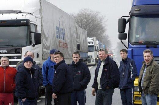 На российско-белорусской границе стояли литовские перевозчики