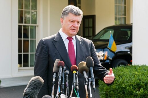 President Petro Poroshenko  at the White House. Photo Ludo Segers