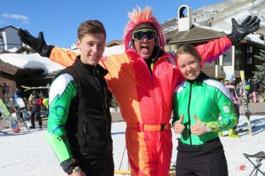 Rokas and Ieva with Denver businessman Darren Droge