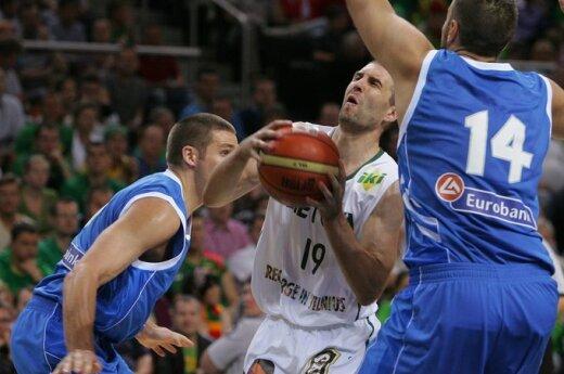 Draugiškos krepšinio rungtynės Lietuva - Graikija
