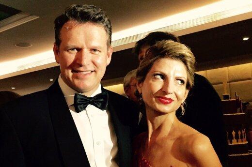 Darius Daubaras su žmona Aiste