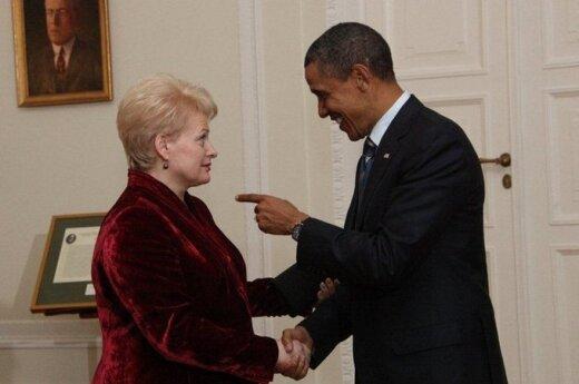 D. Grybauskaitė, B. Obama
