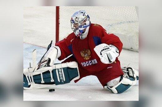 Rusijos ledo ritulio rinktinės vartininkas Jevgenijus Nabokovas
