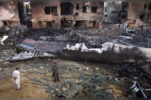 В Карачи упал грузинский Ил-76