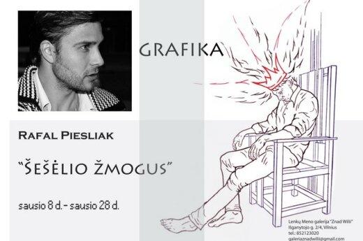 """Rafał Pieslak, wystawa """"Człowiek z cienia"""""""