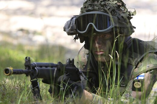 Finish soldier at BALTOPS exercise