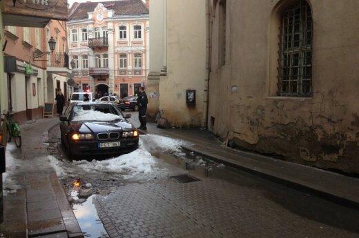 BMW apgadino užkritęs sniegas