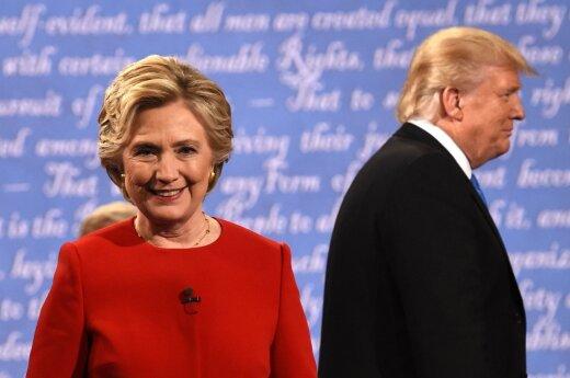 H. Clinton and D. Trump