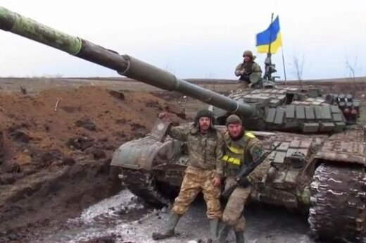 Украинские военные угнали у сепаратистов российский танк Т-72