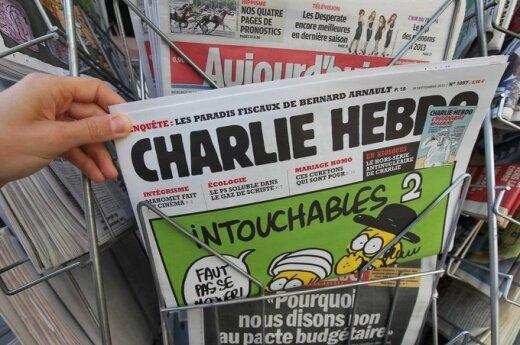 """Prancūzijos savaitraštis """"Charlie Hebdo"""" išspausdino pranašo Mahometo karikatūrą"""