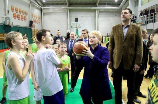 В школе Сабониса Грибаускайте бросала мяч в корзину