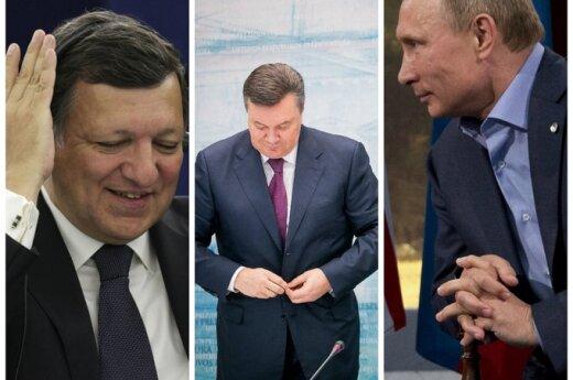 Jose Manuel Barroso, Viktoras Janukovyčius, Vladimiras Putinas