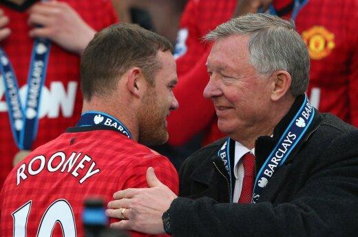 Wayne'as Rooney ir Alexas Fergussonas
