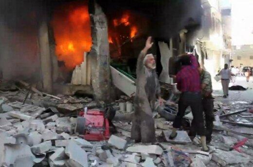 Syria: Trzy potężne eksplozje w centrum Aleppo