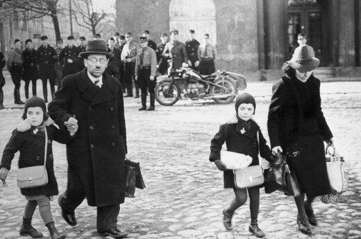 Žydai bėga iš 1939 m. Vokietijos prisijungto Klaipėdos krašto