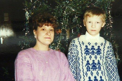 Justas Lapatinskas su mama Angele