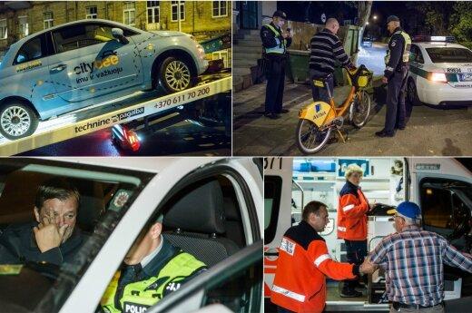 Ночью в Вильнюсе прошел внеочередной рейд, множество оштрафованных