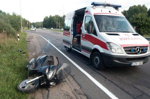 Motorolerio avarija Vilniaus pakraštyje