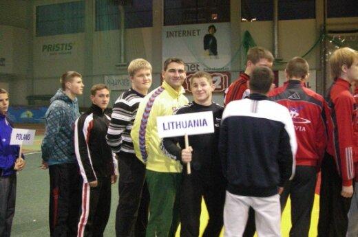 Lietuvos delegacija imtynių varžybose Estijoje