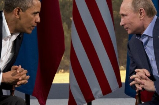 Barackas Obama and Vladimir Putin