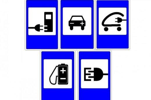 """<font color=""""#6699cc""""><strong>Balsuokite</strong></font>, koks ženklas turėtų nurodyti elektromobilių įkrovimo stotelės vietą!"""