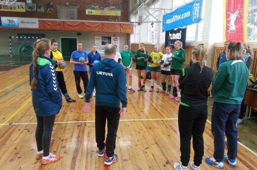 Lietuvos moterų rankinio rinktinės treniruotė