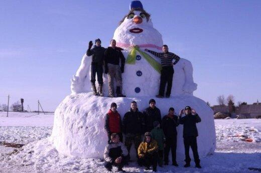 Prienų rajone - 6 metrų sniego senis