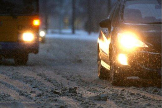 Утром по Литве – скользкие дороги