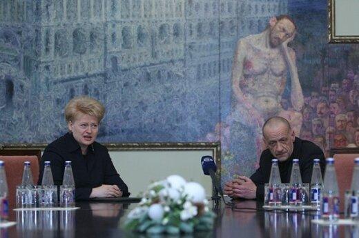 Грибаускайте будет нервировать Литву смелой картиной Сауки