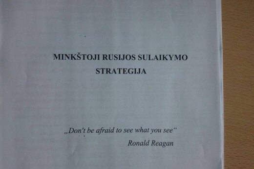 The Soft Russia's containment strategy first page