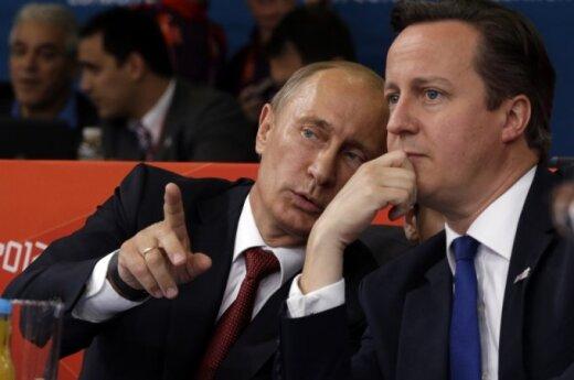 Vladimiras Putinas ir Davidas Cameronas