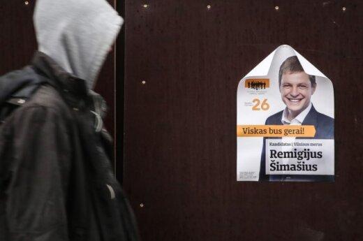 Remigijaus Šimašiaus political advertising