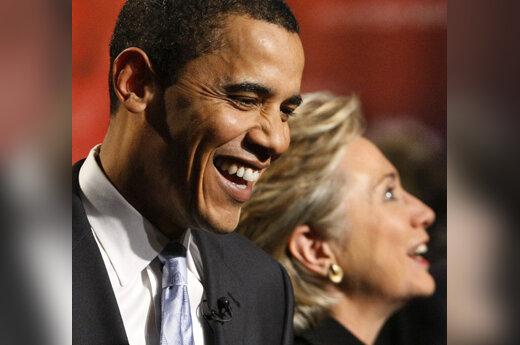 Barackas Obama ir Hillary Clinton