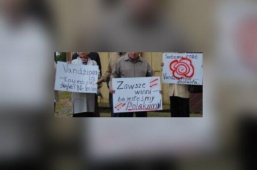 Protest w Wędziagole, fot. www.vandziogala.eu