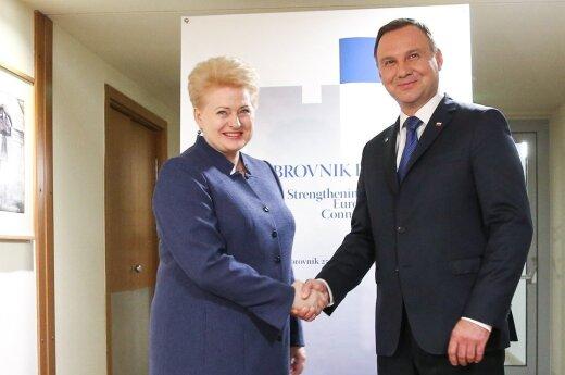 Spotkanie Prezydenta RP z Prezydent Republiki Litewskiej Dalią Grybauskaitė (fot. Andrzej Hrechorowicz / KPRP)