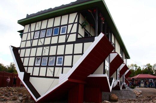 """В Литве появился первый в Балтии """"перевернутый"""" дом"""