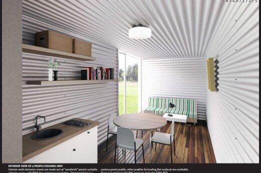 Architektų pasiūlymas: socialinis būstas šalia Neries, tinkantis ir pabėgėliams