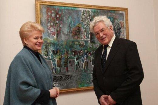 Президент посетила выставку Витаутаса Касюлиса
