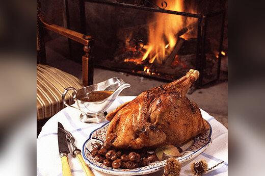 Nacionalinė virtuvė, Kalėdos, keptas kalakutas