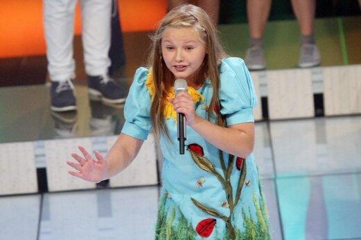 """""""Vaikų Eurovizijos"""" nugalėtoja Paulina Skrabytė"""