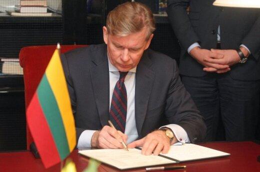 Ажубалис: рекомендации комиссара ОБСЕ Литве и Польше – конфиденциальные