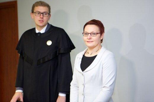 Daiva Ulbinaitė and her attorney Giedrius Danėlius