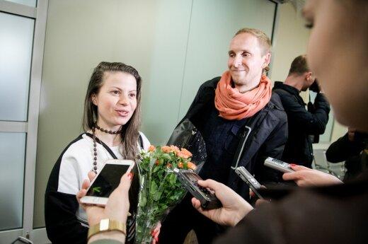 """""""Fusedmarc"""" sugrįžtuvės Vilniaus oro uoste"""