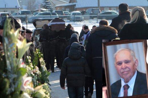 Arvydo Sabonio tėvo laidotuvės