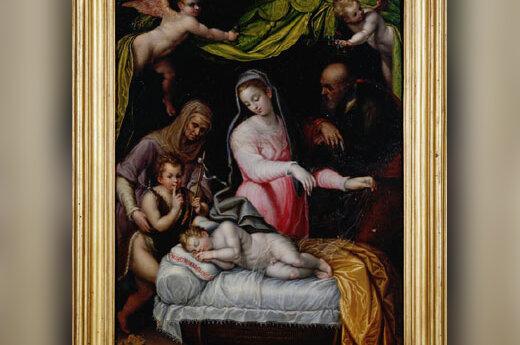 Lavinia Fontana. Kūdikėlis Jėzus miega. XVI a.