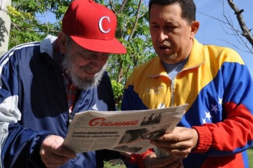 Телевидение Кубы показало Уго Чавеса с Фиделем Кастро